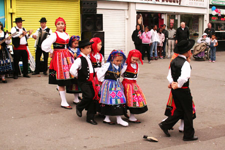 Portuguese dancers at the Big Lunch